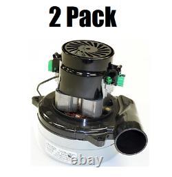 (2) Ametek Lamb 116392-00 Vacuum Motor Blower, Tangential, 2 Stage, 1 Speed