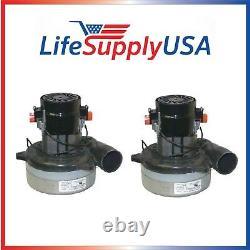 2 Central Vacuum Motor 2 Stage Blower Replace Ametek 116420-13, 116210, 116474