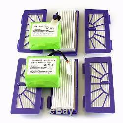 2 X Akku 3500mAh und 6 Filter für Neato XV-11,-12, -15,-21, -25, & Signature