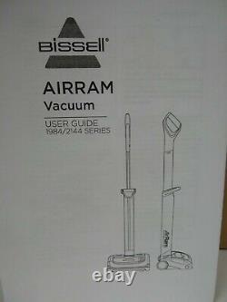 Bissell AirRam Cordless Vacuum Model 2144 Series Color Blue