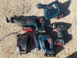 Bosch Tool Kit Reciprocating Saw, Jigsaw, Combi Drill & Blower 18v