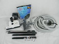 Central Vacuum 35 Foot Hose Accessory Kit Featuring Sebo ET-1 Carpet Power Head