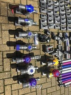 Cordless dysons. Job lot, Various ones with spare parts in used working condition
