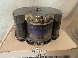 Dyson 360 Eye RB01 Robot Vacuum Cleaner Cyclone Nickel Blue For Parts Or Repair