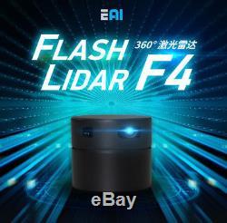 EAI Flash Lidar F4 Winder 8M 360° Scanning Lidar Laser Rangefinder Module Sensor