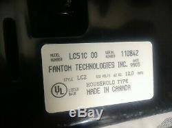 Fantom Lightning Hepa 12 amp Swivel 360 Canister Vacuum Cleaner retractable Cord