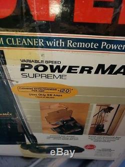 HOOVER POWERMAX SUPREME 9.8 amp VACUUM new 1996 vintage