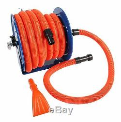 Industrial Hose Reel and 50 ft. Hose with Adapters for Shop Vacuums