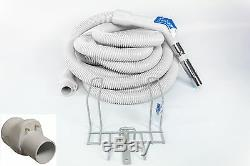 NEW GENUINE Vacuflo 35' TurboGrip pronged central vacuum hose & rack Vacuflo