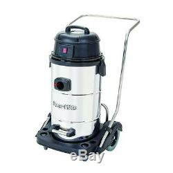 Powr-Flite PF53 15 gallon Stainless Wet/Dry Vacuum with Squeegee Tools LOCAL PIC