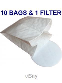 Pullman Advance Commander 900 Backpack Vacuum Cleaner, Bonus 10 Bags + Filter