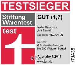 SIEMENS Bodenstaubsauger Z 7.0 taupe VSZ7A400